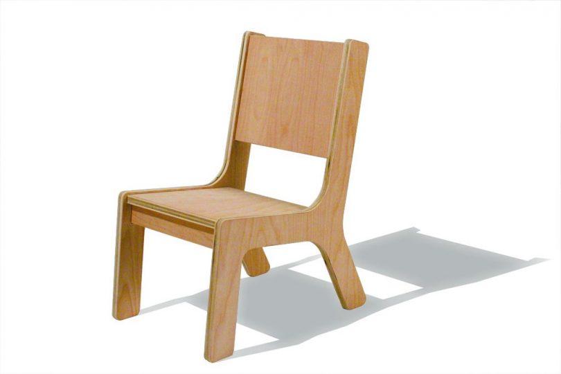 rjavi stolcki za otroke